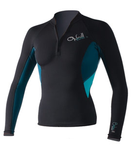 Womens wetsuit jacket with a short zipper