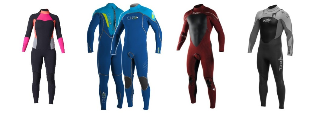 Different suits from thiswetsuit guide.