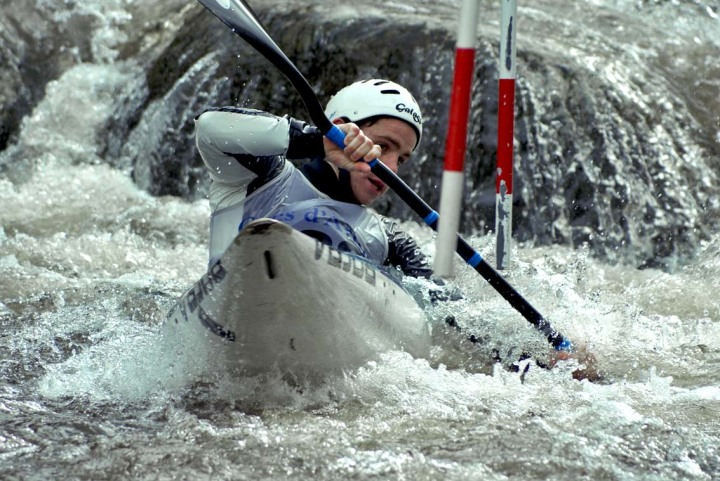 a man in a kayak